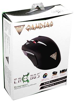 Мышь Gamdias Erebos Optical проводная оптическая игровая с подсветкой для PCИгровая мышь Gamdias Erebos имеет агрессивный дизайн и обладает наборами сменных накладок, регулировкой веса и мощным оптическим сенсором.<br>