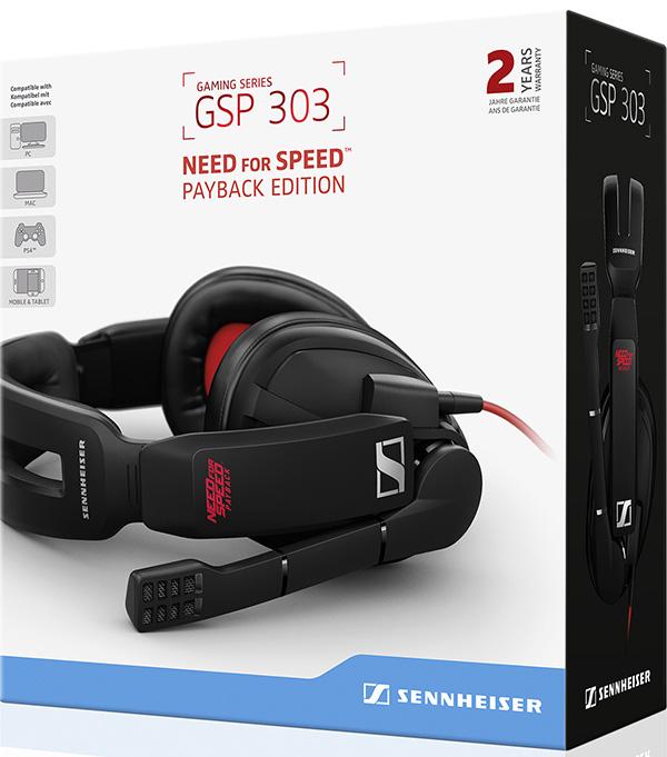 Гарнитура Sennheiser GSP 303 Need for Speed проводная игровая для PC / PS4 / Mac. Payback EditionСделайте игровой процесс по-настоящему захватывающим с Sennheiser GSP 303 Need for Speed. Payback Edition! Закажите гарнитуру уже сейчас – официальный предзаказ только в 1С Интерес.<br>