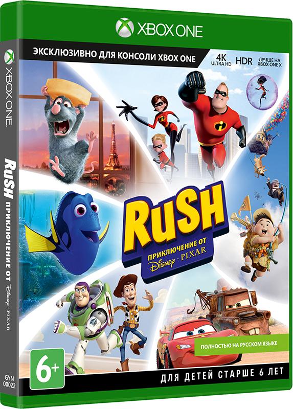 Rush: A Disney Pixar Adventure: 4K. Ремастеринг [Xbox One]Вместе с Rush: A Disney Pixar Adventure: 4K Ремастеринг, погрузитесь в мир шести любимых мультфильмов студии Disney Pixar –  «Суперсемейка», «Рататуй», «Вверх», «Тачки», «История игрушек» и «В поисках Дори» теперь в разрешении 4K Ultra HD и с поддержкой функции расширенного динамического диапазона (HDR).<br>