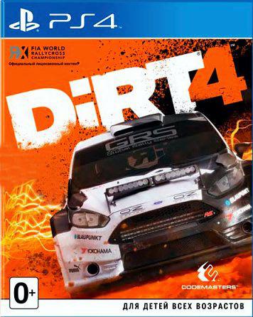Dirt 4 [PS4]DiRT 4 – четвертая часть серии аркадных гонок. Игра бросает серьезный вызов даже опытным виртуальным гонщикам. Новая Академия DiRT 4 научит навыкам, которые необходимы для достижения вершин в автоспорте, и станет собственной игровой площадкой для оффроуда.<br>
