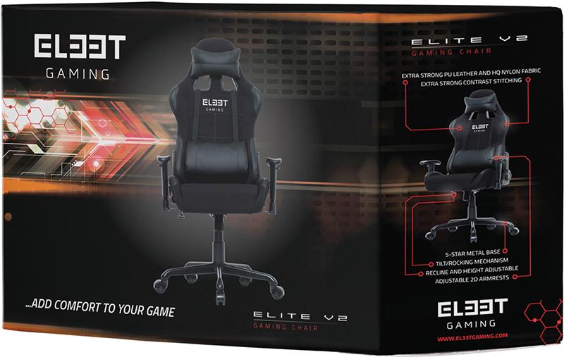 Геймерское кресло EL33T Elite V2 Fabric&amp;PU (Black/green stitching)Уникальное игровое кресло EL33T Elite V2 Fabric&amp;PU профессионального уровня от датского производителя L33T-Gaming &amp;ndash; бренда, рожденного в самом сердце Скандинавии &amp;ndash; региона, известного большим количеством именитых производителей игровой индустрии. Это одна из топовых моделей ассортимента игровых кресел L33T-Gaming, оснащенных регулируемыми подлокотниками, спинкой, поясничной и шейной подушками.<br>