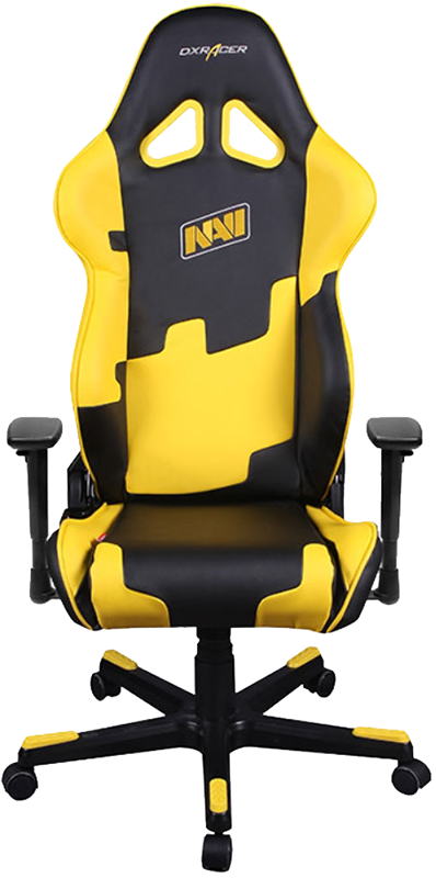 Геймерское кресло DXRacer Special Editions Natus Vincere (Na'Vi) OH/RE21/NY/NAV (Black/Yellow)