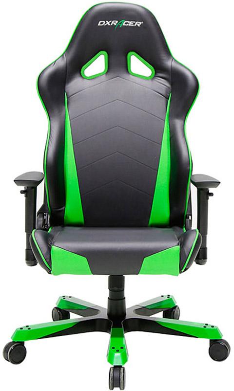 Геймерское кресло DXRacer Tank OH/TS29/NE (Black/Green)Усиленная конструкция основания спинки  геймерского кресла DXRacer Tank OH/TS29/NE гарантирует прочность &amp;ndash; нагрузка составляет до 227 кг, что в 2 раза больше, нежели у моделей других серий. Увеличенные подлокотники регулируются в трех плоскостях, наклон сиденья присутствует. Регулировка угла наклона возможна до 120 градусов. Серия Танк имеет ширину и глубину сидения 61 сантиметр, высота сиденья 94 сантиметра. Модель незаменима для Больших людей.<br>