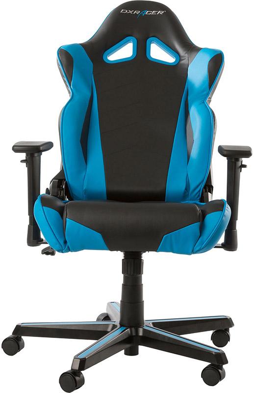 Геймерское кресло DXRacer Racing OH/RZ0/NB (Black/Blue)Данная модель DXRacer Racing OH/RZ0/NB &amp;ndash; эталон комфорта; прототип кресла гонщика, усовершенствованная версия серии formula. Спинка изделия стала еще выше, шире, эргономичнее. Специальный наполнитель обеспечивает еще более комфортное времяпровождение &amp;ndash; изделие рассчитано на длительное беспрерывное использование (до 8-ми и более часов).<br>