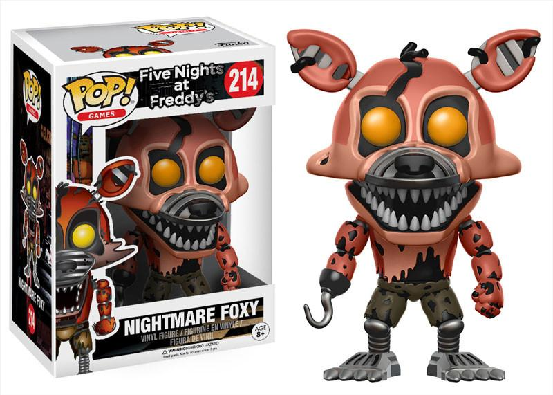 Фигурка Funko POP Games Five Nights at Freddys: Nightmare Foxy (9,5 см)Фигурка Funko POP Games Five Nights at Freddys: Nightmare Foxy воплощает собой одного из персонажей игры Five Nights at Freddys (Пять ночей у Фредди).<br>