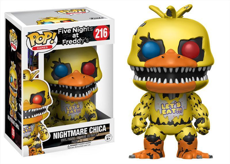 Фигурка Funko POP Games Five Nights at Freddys: Nightmare Chica (9,5 см)Фигурка Funko POP Games Five Nights at Freddys: Nightmare Chica воплощает собой одного из персонажей игры Five Nights at Freddys (Пять ночей у Фредди).<br>