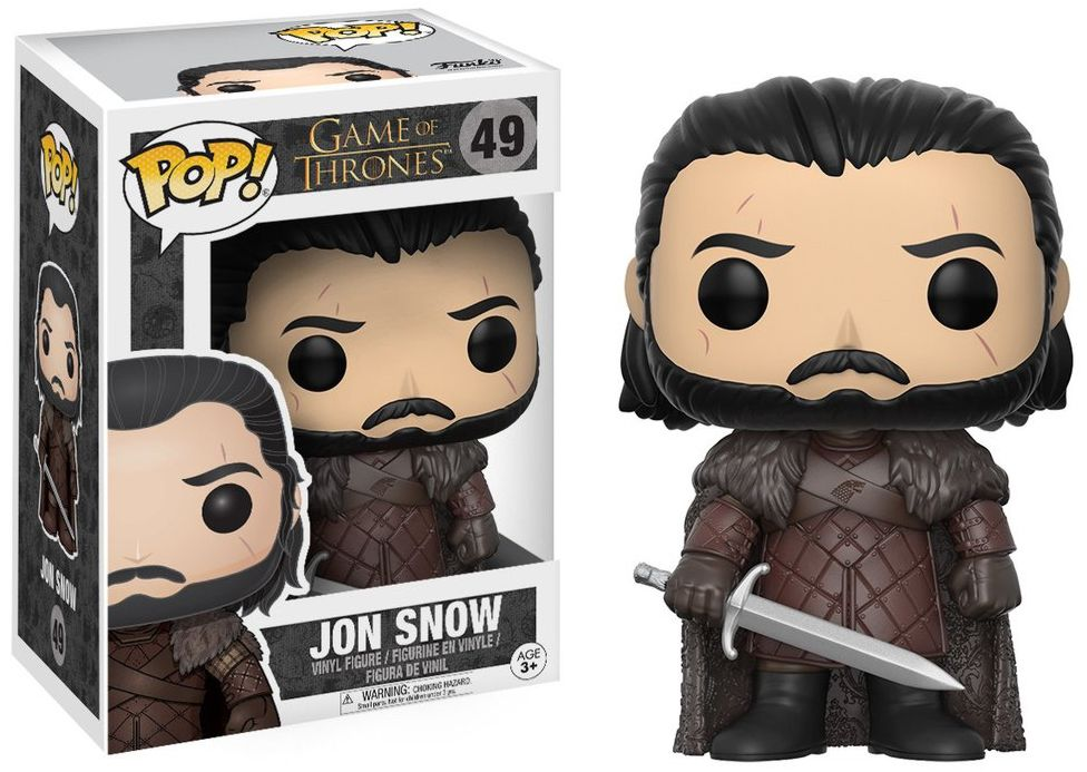 Фигурка Funko POP Game Of Thrones: Jon Snow (9,5 см) game of thrones jon snow wigs black curly synthetic hair