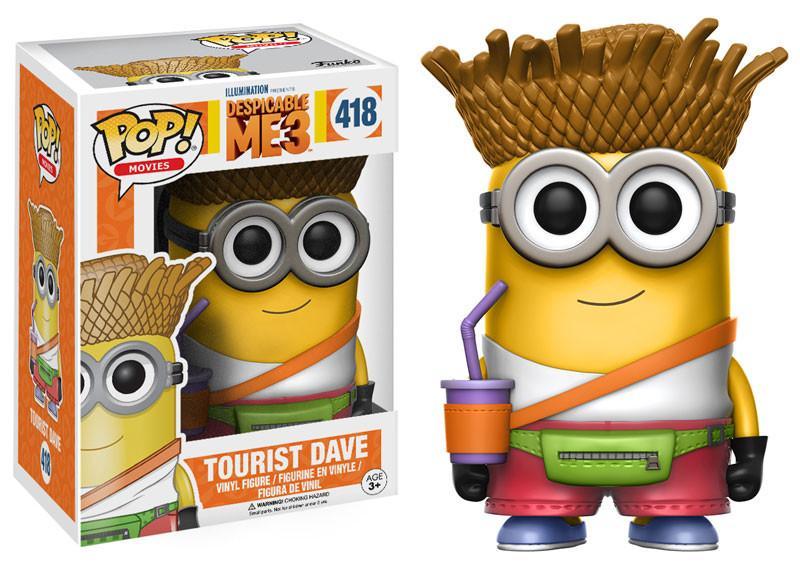 Фигурка Funko POP Movies Despicable Me 3: Dave Tourist (9,5 см)Фигурка Funko POP Movies Despicable Me 3: Dave Tourist воплощает собой Дейва в образе туриста (Dave Tourist) из мультфильма Гадкий я 3.<br>