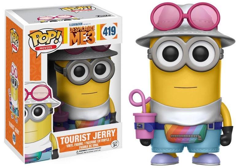 Фигурка Funko POP Movies Despicable Me 3: Jerry Tourist (9,5 см)Фигурка Funko POP Movies Despicable Me 3: Jerry Tourist воплощает собой Джерри в образе туриста (Jerry Tourist) из мультфильма Гадкий я 3.<br>