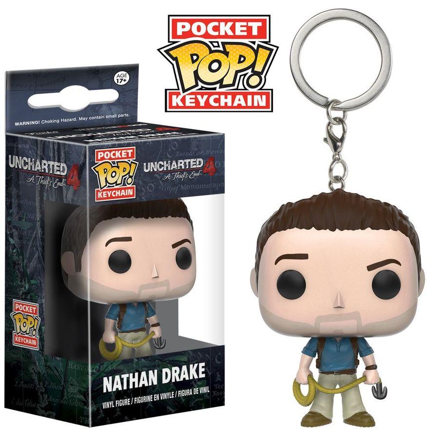 Брелок Pocket POP Uncharted: Nathan Drake (3,8 см)Белок Pocket POP Uncharted: Nathan Drake воплощает собой Натана Дрейка из компьютерной видеоигры «Uncharted 4: Путь вора» (Uncharted 4: A Thief's End).<br>