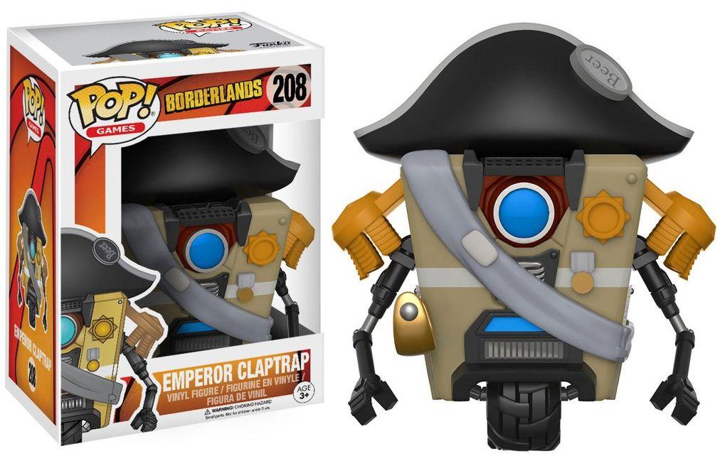 Фигурка Funko POP Games Borderlands: Emperor Claptrap (9,5 см)Фигурка Funko POP Games Borderlands: Emperor Claptrap воплощает собой императорского Железяка из игры «Бордерлендс».<br>
