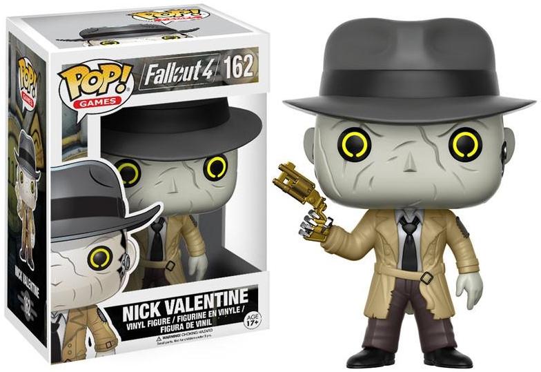 Фигурка Funko POP Games Fallout 4: Nick Valentine (9,5 см)Фигурка Funko POP Games Fallout 4: Nick Valentine воплощает собой Ника Валентайна из компьютерной видеоигры «Fallout 4».<br>
