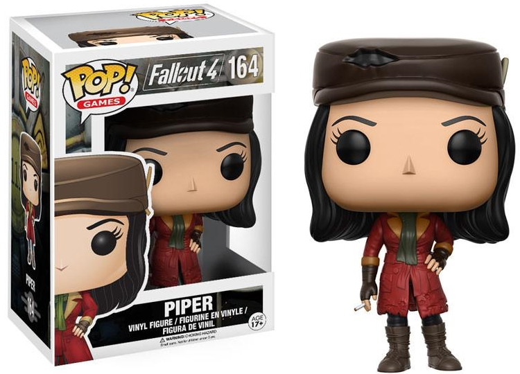 Фигурка Funko POP Games Fallout 4: Piper (9,5 см)Фигурка Funko POP Games Fallout 4: Piperвоплощает собой Пайпер Райт (Piper Wright) из компьютерной видеоигры «Fallout 4».<br>