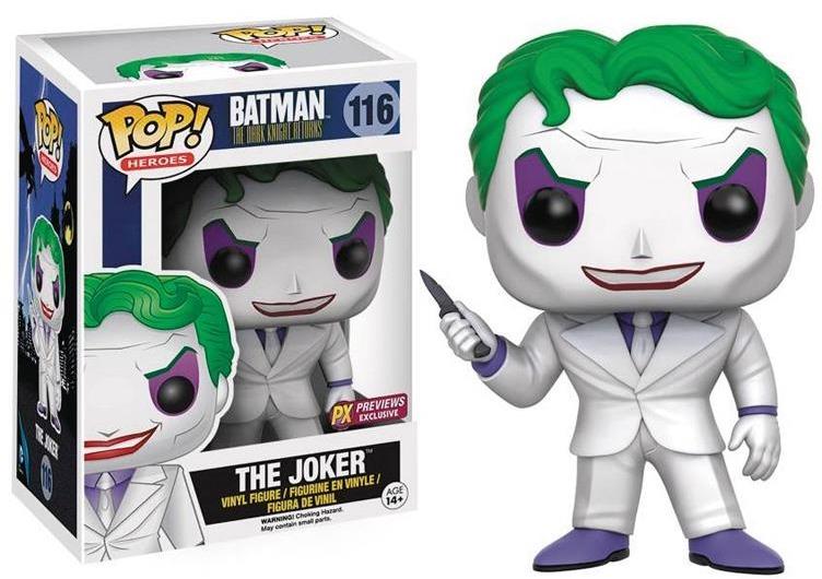 Фигурка Funko Pop Heroes The Dark Knight Returns: Joker Exclusive (9,5 см)Фигурка Funko POP Heroes The Dark Knight Returns: Joker Exclusive воплощает собой Джокера из анимационного фильма «Возвращение Темного Рыцаря».<br>
