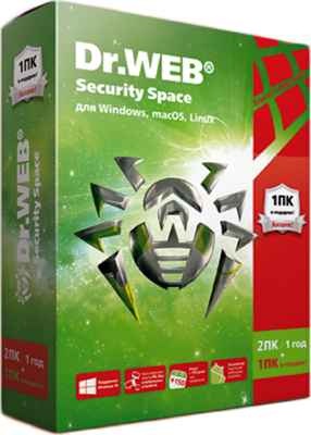 Dr.Web Security Space «Трешка» (3 ПК + 3 моб. устройства, 1 год) (акция)Dr.Web Security Space &amp;ndash; комплексная защита ПК под управлением Windows от всех видов современных известных и новейших неизвестных интернет-угроз. Новая позиция в линейке коробочных продуктов для дома Dr.Web Security Space 2ПК / 12мес + 1ПК в подарок «Трёшка» позволит покупателям с помощью одного серийного номера защитить три компьютера и три мобильных устройства на год. Эта лицензия подходит для семейного использования и пригодится людям, которые пользуются одновременно несколькими ПК и мобильными устройствами.<br>