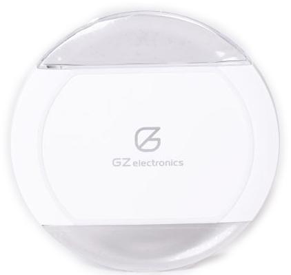 Беспроводное зарядное устройство GZ-C1-WT (белый)Беспроводное зарядное устройство GZ-C1 получает питание через порт micro-USB и заряжает смартфон, планшет, электронные часы и любое другое цифровое устройство, поддерживающее стандарт Qi (магнитная индукция). LED индикация отображает статус заряда.<br>