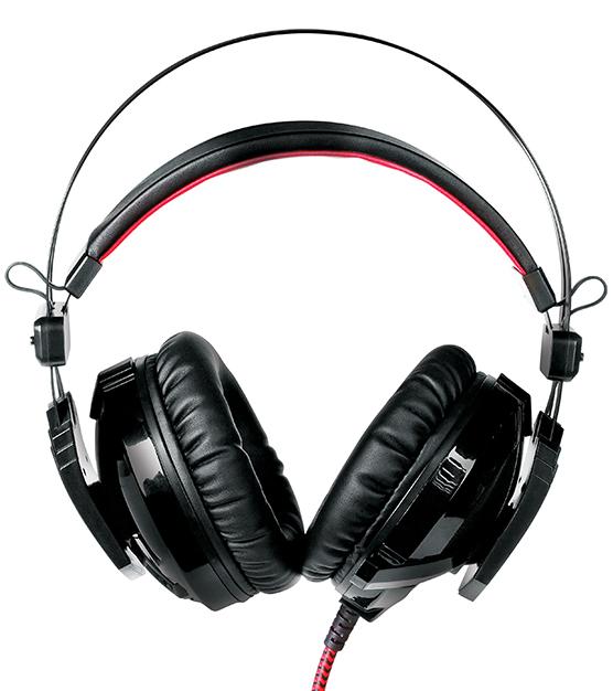Гарнитура Qumo Warlock GHS008 проводная с подсветкой для PCСтильная проводная гарнитура Qumo Warlock станет отличным подарком для геймеров, либо для тех, кто совершает частые звонки по мессенджерам или слушает музыку во время рабочего процесса.<br>