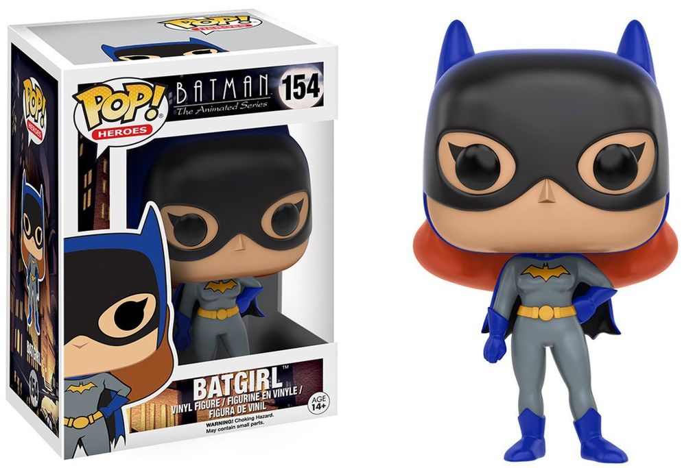 Фигурка Funko POP Heroes DC: Batman Animated – BTAS Batgirl (9,5 см) single sale batman series dc super hero justice league building block bricks batgirl toys for children rubber ducky batman