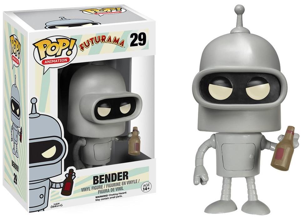 Фигурка Funko POP Animation Futurama: Bender (9,5 см)Фигурка Futurama: Bender воплощает собой робота Бендера Родригеса из мультсериала «Футурама».<br>