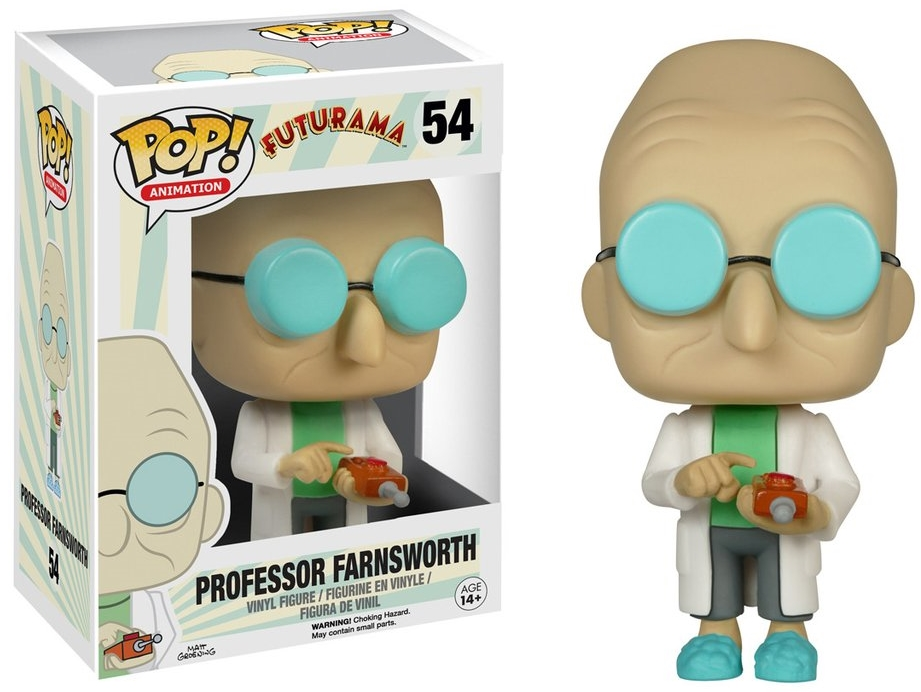 Фигурка Funko POP Animation Futurama: Professor Farnsworth (9,5 см)Фигурка Futurama: Professor Farnsworth воплощает собой профессора Хьюберта Фарнсворта из мультсериала «Футурама».<br>