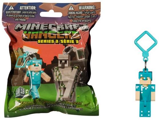 Брелок Minecraft. Серия 3 (в ассортименте)Третья серия фигурок-брелоков по популярной игре Minecraft! Вы можете повесить этот необычный брелок на свой рюкзак или портфель.<br>