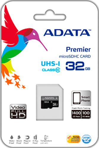 Карта памяти microSDHC 32 Гб ADATA UHS-1 CL10 карта памяти other jvin 8gtf