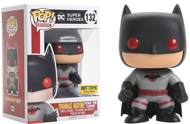 Фигурка Funko POP Heroes DC: Batman Flashpoint (Exc) (9,5 см)Фигурка Funko POP Heroes DC: Batman Flashpoint (Exc) воплощает собой Бэтмена из комикса DC Comics. Выполнена в уникальном стиле чиби. Хорошо детализирована, имеет уникальный окрас и устойчивое основание для любого типа поверхности.<br>