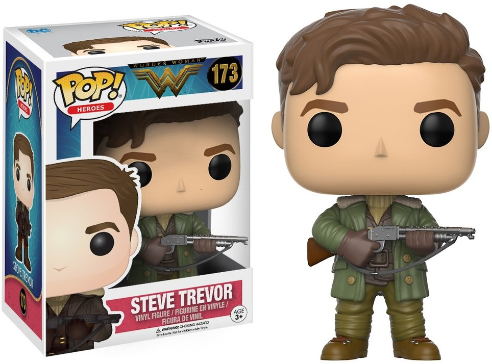 Фигурка Funko POP Heroes DC Wonder Woman: Steve Trevor (9,5 см) dc comics super heroes batman the joker superman wonder woman mini pvc action figure toys dolls models 22pcs set free shipping
