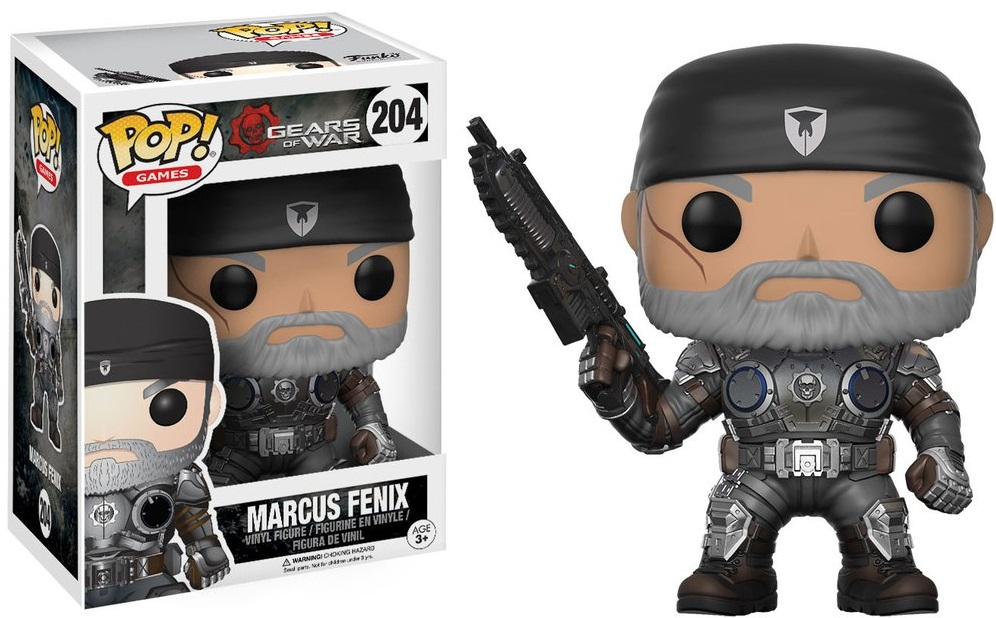 Фигурка Funko POP Games Gears of War: Marcus Fenix (Old Man) (9,5 см) фигурка funko pop games gears of war damon baird armored 9 5 см