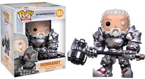 Фигурка Funko POP Games Overwatch: Reinhardt (Unmasked) (Exc) (16 см)Фигурка Funko POP Games Overwatch: 6 Reinhardt (Unmasked) (Exc) воплощает собой оного из персонажей игры «Overwatch» – Райнхардта без маски.<br>