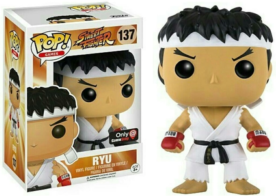Купить со скидкой Фигурка Funko POP Games: Street Fighter – Ryu White Headband (Exc) (9,5 см)