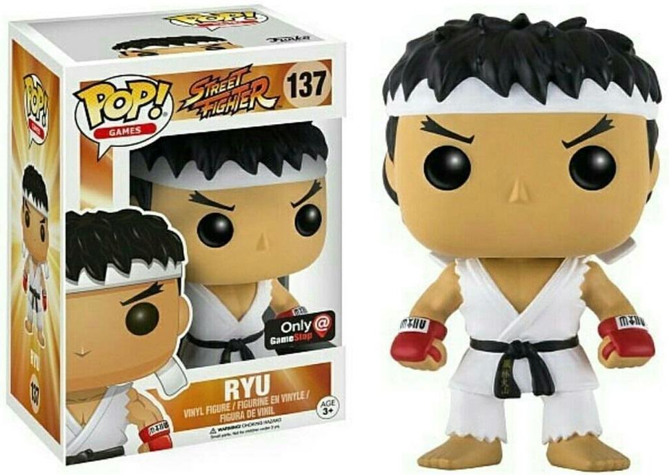Фигурка Funko POP Games Street Fighter: Ryu White Headband (Exc) (9,5 см)Фигурка Funko POP Games Street Fighter: Ryu White Headband (Exc) воплощает собой одного из персонажей игры «Street Fighter» – Рю.<br>