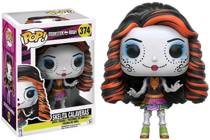 Фигурка Funko POP Monster High: Skelita Calaveras (9,5 см) monster high фигурка monster minis 1шт