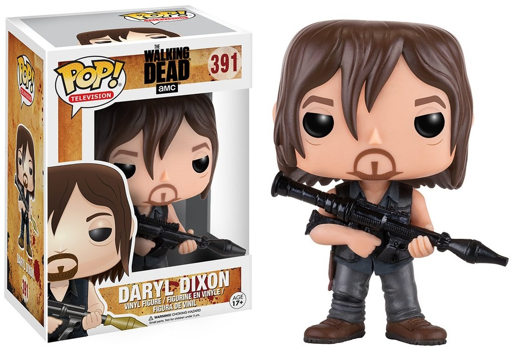Фигурка Funko POP Television: The Walking Dead – Daryl w/ Rocket Launcher (9,5 см) фигурка funko pop television trollhunters aaarrrgghh 9 5 см