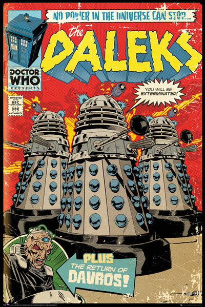 Плакат Doctor Who: Daleks Comic Cover doctor who remembrance of the daleks