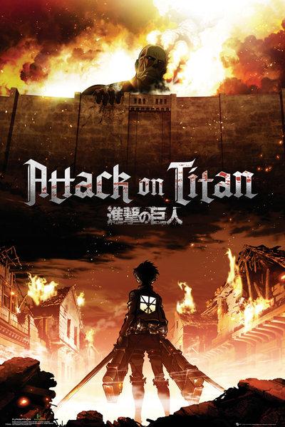 Плакат Attack On Titan: Key ArtПлакат Attack On Titan: Key Art создан по мотивам постапокалиптической манги Хадзимэ Исаямы.<br>