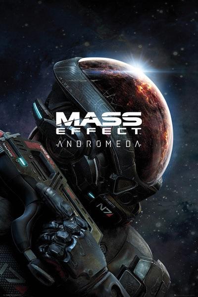Плакат Mass Effect Andromeda: Key ArtПлакат Mass Effect Andromeda: Key Art создан по мотивам компьютерной играы в жанре ролевого боевика, разработанной студией BioWare.<br>