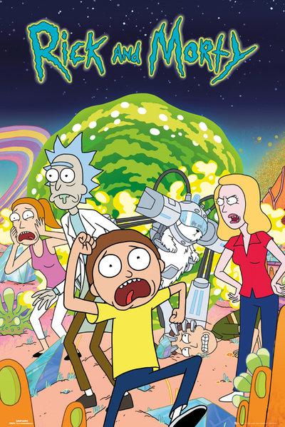 Плакат Rick And Morty: GroupПлакат Rick And Morty: Group создан по мотивам популярного американского мультсериала «Рик и Морти».<br>