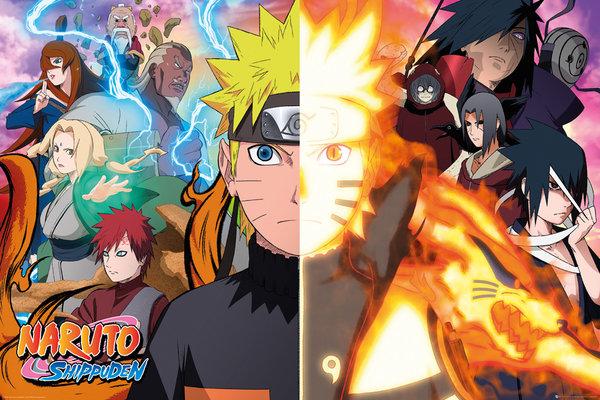 Плакат Naruto Shippuden: Split