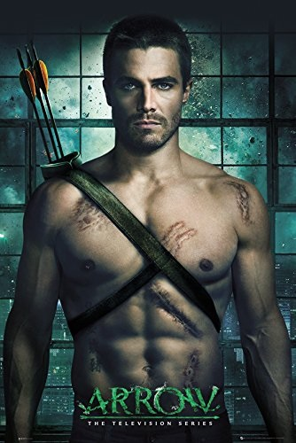 Плакат ArrowПлакат Arrow создан по мотивам американского приключенческо-супергеройского телесериала с элементами драмы, основанного на комиксах о супергерое DC Comics Зелёная стрела.<br>