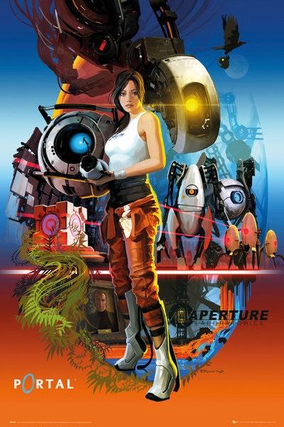 Плакат Portal: Aperture LaboratoriesПлакат Portal: Aperture Laboratories создан по мотивам компьютерной игры в жанре головоломки от первого лица, разработанной Valve Corporation.<br>