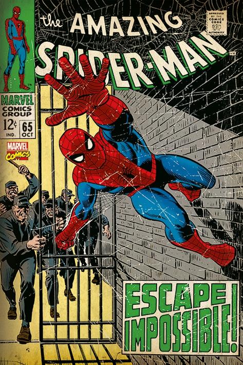 Плакат Spiderman: Escape ImpossibleПлакат Spiderman: Escape Impossible создан по мотивам комиксов о Человеке-Пауке от издательства Marvel.<br>