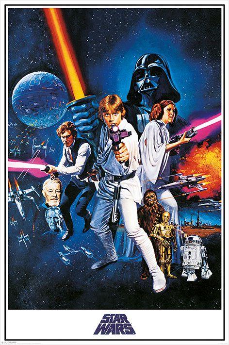 Плакат Star Wars: A New Hope One SheetПлакат Star Wars: A New Hope One Sheet создан по мотивам культовой фантастической франшизы в жанре космической оперы «Звездные войны».<br>