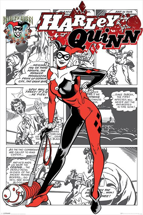 Плакат Harley Quinn: Aka Dr. Harleen Francis QuinzelПлакат Harley Quinn: Aka Dr. Harleen Francis Quinzel создан по мотивам комиксов вселенной DC Comics, на мем изображен вымышленный персонаж, суперзлодейка, первоначально появившаяся в мультсериале «Бэтмен» 1992 года.<br>