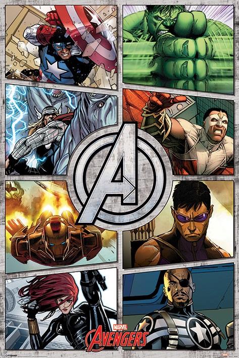 Плакат The Avengers: Comic PanelsПлакат The Avengers: Comic Panels создан по мотивам комиксов издательства Marvel Comics. На нем изображена команда супергероев.<br>