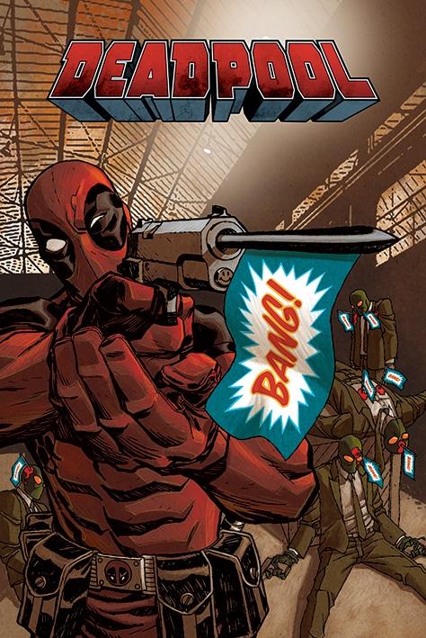 Плакат Deadpool: BangПлакат Deadpool: Bang создан по мотивам супергеройских комиксов издательства Marvel.<br>