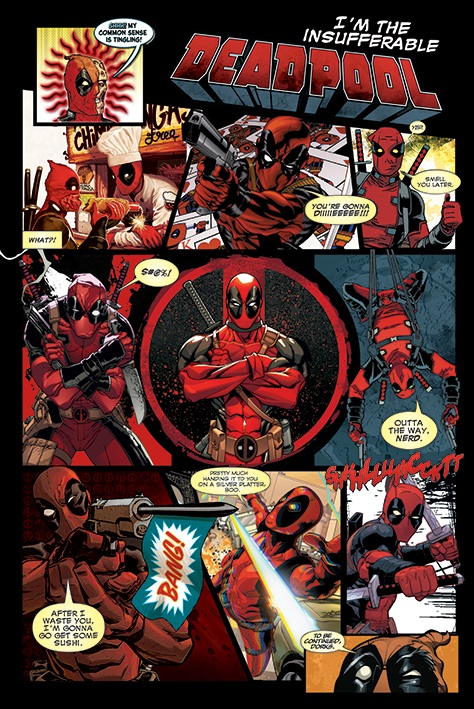 Плакат Deadpool: Panels (№59) плакат deadpool panels 59