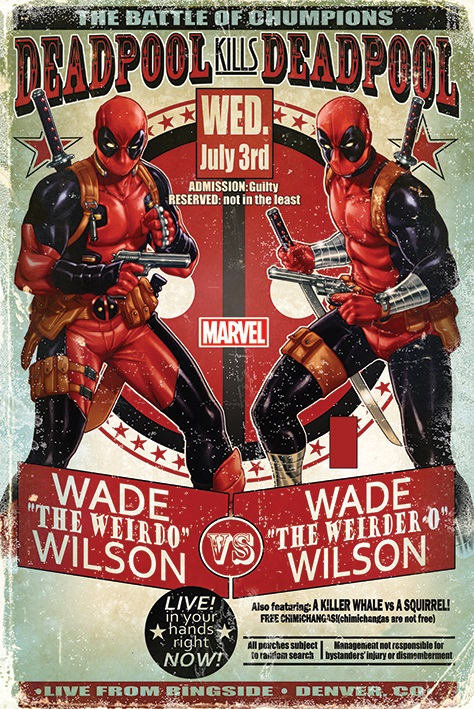 Плакат Deadpool: Wade Vs WadeПлакат Deadpool: Wade Vs Wade создан по мотивам супергеройских комиксов издательства Marvel.<br>