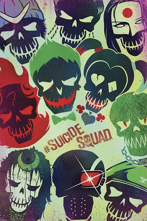 Плакат Suicide Squad: SkullsПлакат Suicide Squad: Skulls создан по мотивам супергеройского комикса издательства DC Comics.<br>