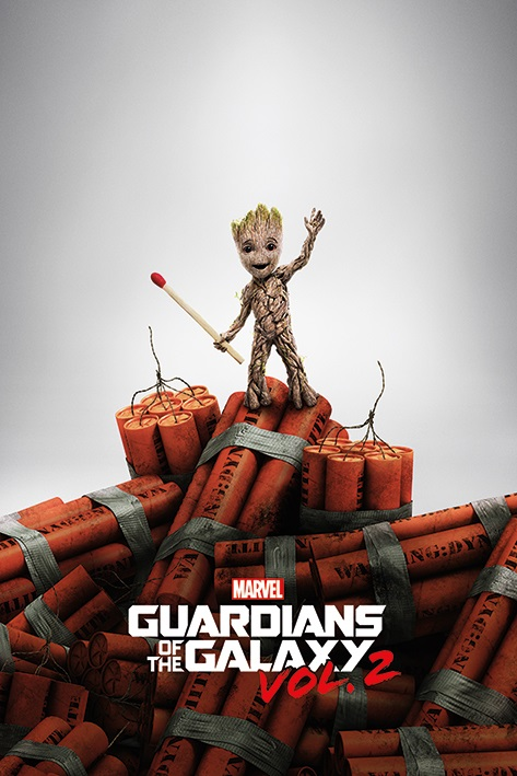 Плакат Guardians Of The Galaxy: Groot Dinamyte marvel platinum definitve guardians of the galaxy reloaded